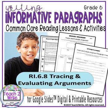 Distance Learning Tracing Evaluating Arguments RI.6.8 Informative Writing