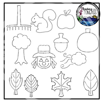 Tracing and Pinning Fall Clipart Bundle