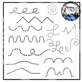 Tracing and Pinning Lines Clipart