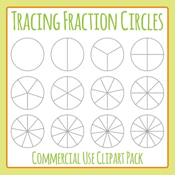 Tracing Fractions Clip Art Set for Commercial Use