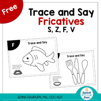 Tracing Fricative: Free Articulation Activity