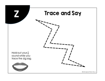 Tracing Fricatives: Free Articulation Activity