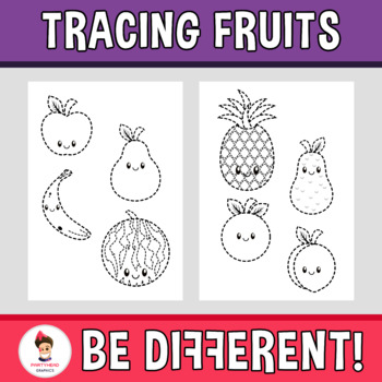 Tracing Fruits Clipart