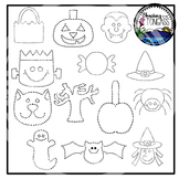 Tracing and Pinning Halloween Clipart