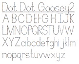 Tracing Handwriting Font - Dot Dot Goosey and Goosey2