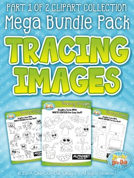 Tracing Images Clipart Mega Bundle Pack Part 1 {Zip-A-Dee-Doo-Dah Designs}