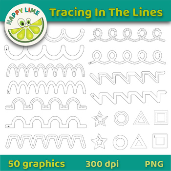 Tracing In The Lines - Clip Art