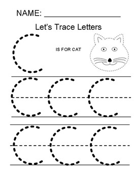 Tracing The Letter C by Making Math Simple for All Kids | TpT