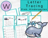 Lowercase Letters Tracing- Letter w Worksheets