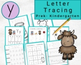 Lowercase Letters Tracing- Letter y Worksheets