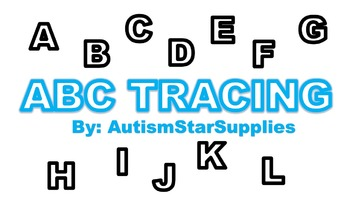 Tracing Upper Case Letters for the Autism classroom