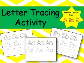 Tracing Letters Activity