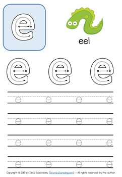 Tracing Letters - B&W and Color Worksheets {Lowercase Letters}