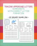 Tracing Letters - B&W and Color Worksheets {Uppercase Letters}