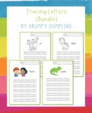 Tracing Letters Bundle (Uppercase and Lowercase LEtters, C and B&W)