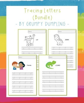 Tracing Letters Bundle (Uppercase and Lowercase LEtters, C