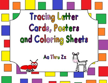 Tracing Letters Cards and Posters