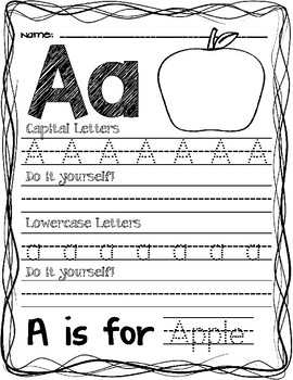 Tracing & Writing Letters: Learning the Alphabet the Easy Way