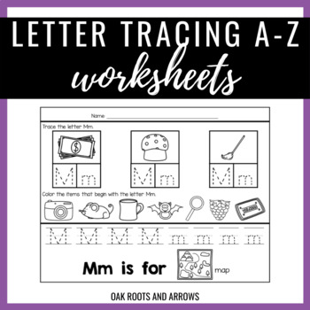 Tracing Letters & Letter Sound Recognition Worksheets
