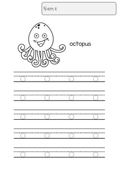 Tracing Letters (Lowercase Letters, C and B&W)