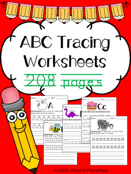 Tracing Letters Packet {200+pages}