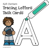 (Distance Learning Freebie) Tracing Letters Task Cards