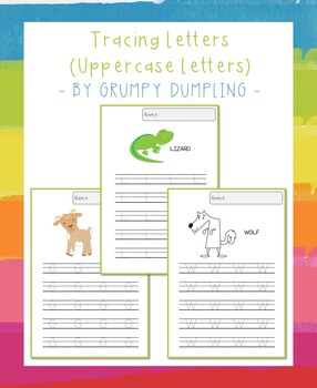 Tracing Letters (Uppercase Letters, C and B&W)