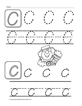 Tracing Letters Work Sheets (DNealian)