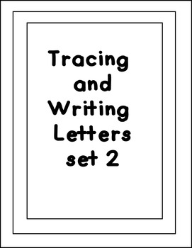 Tracing Letters Worksheets Set 2  (NO PREP)