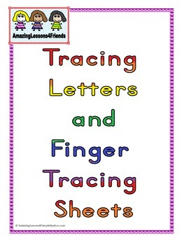 Tracing Letters and Finger Tracing Sheets