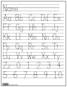 Letters Numbers and Shapes Tracing Worksheet / Activity Sheets