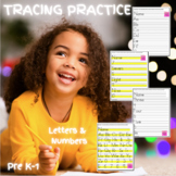 Tracing Letters A-Z and Numbers 0-10 Worksheets (Back To S