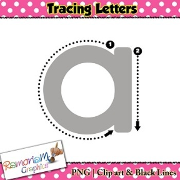 Tracing Letters clip art