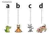 Tracing Line Alphabet Theme