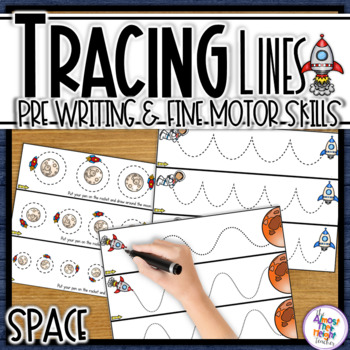Tracing Line Cards for path of motion & fine motor skill development - Space