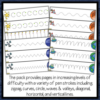 Space Tracing Lines for Path of Motion & Fine Motor Skill development