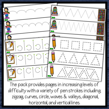 Back to School Tracing Lines, Path of Motion & Fine Motor Skill Development