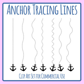 Tracing Lines - Anchor Dashed or Dotted Lines for Pencil Control Clip Art