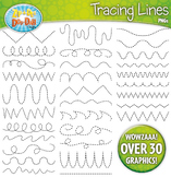 Tracing Lines Clipart Set {Zip-A-Dee-Doo-Dah Designs}