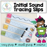 Tracing Lines - Fine Motor Practice - Letter & Initial Sounds