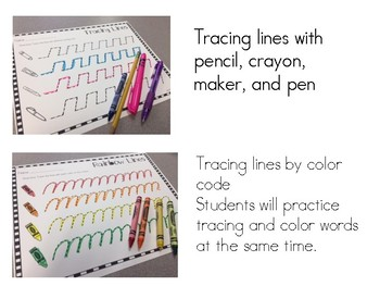 Tracing Lines For Fine Motor Development