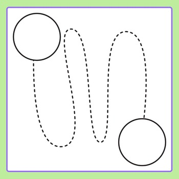 Tracing Lines - Help the ... find their... Circle Clip Art Set Commercial Use