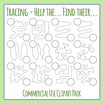 Tracing Lines - Help the ... find their... Circle Clip Art