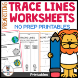 Tracing Lines Pre-writing and Pen Control Worksheet Packet Fine Motor Skills