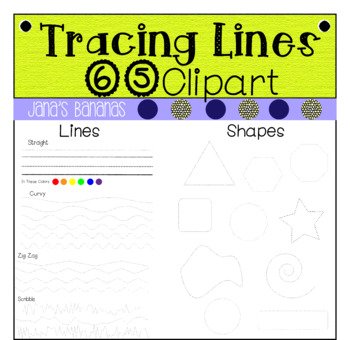 65 Tracing Lines & Shapes {Commercial & Personal Use}