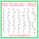 Tracing Lines - Vines Vertical Dashed/Dotted Lines for Pencil Control Clip Art