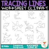 Tracing Lines Worksheet Clip Art Commercial Use