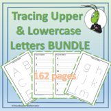 Tracing Lowercase and Uppercase Letters Prek Bundle