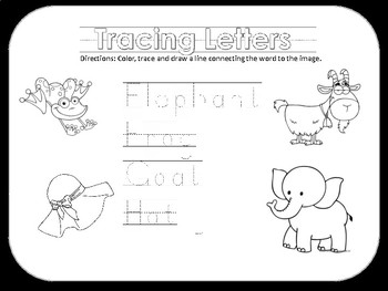 Tracing, Matching and Coloring Letters and Words