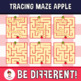 Tracing Maze Clipart Apple (Guided Set)
